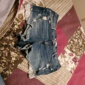 Torrid distressed jean shorts. Size 20